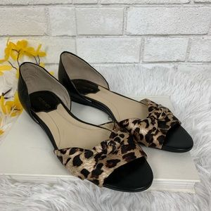 Marc Fisher leather & satin sandals size 8.5